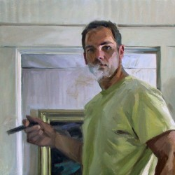Self-portrait by Tom Hughes Paintings