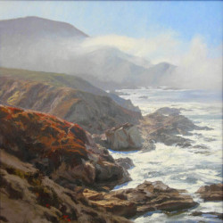 Morning sun, Carmel by Tom Hughes Paintings