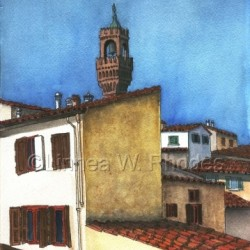 Florence Rooftops by Linnea W. Rhodes
