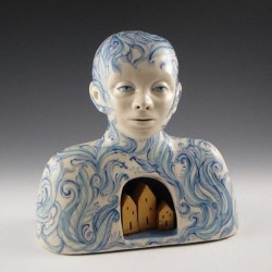 Reliquary, porcelain by Pam Stern