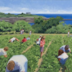 Strawberry Picking - Maxwell's by Martha Baum