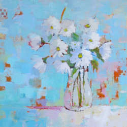 Bunch Of Daisies by Phyllis Dobbyn Adams