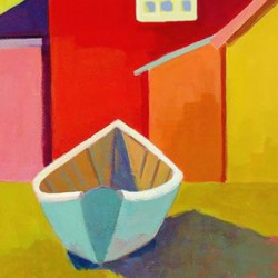 Backyard Skiff    SOLD by Phyllis Dobbyn Adams