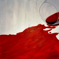 Red Wine Abstract 1. by Jim Lively