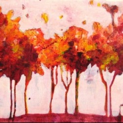 Fall Trees #1 by Kat Crosby Art
