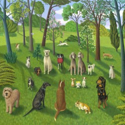 THE DOG PARK 3 by Jane Troup
