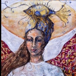Angel from the Stars by Birgit Huttemann-holz