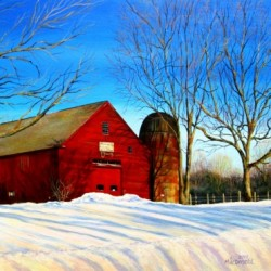 A February Morning at Springdale Farm by Lori Macdonald Fine Art
