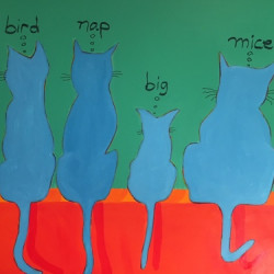 Cat Dreams 36x48 by Tomaso Ditomaso
