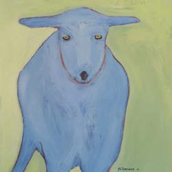 Blue Goat Head On by Tomaso Ditomaso