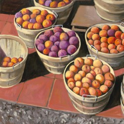 Peaches in Baskers by Jack Siegel, Artist