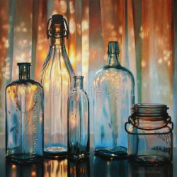 Sunset in  a Bottle by  Cecile Baird