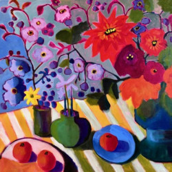 Wildflower Table by Annie O'brien Gonzales