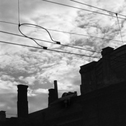 Tram Cable, Prague 2002 by Scott Alan Brill