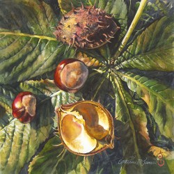 Autumn Treasures, Chestnuts by Catherine M. James