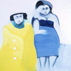 Two Women/Yellow Coat by John R. Manning