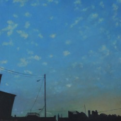 Twilight Fells Point Dappled Sky by Deborah Stevenson