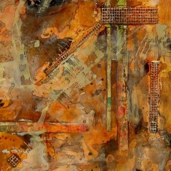 Map Series II/6 (SOLD) by Susan Helbig Fine Art
