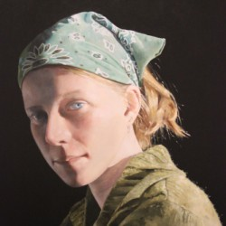 Girl In A Green Bandana by M Post Van Der Burg