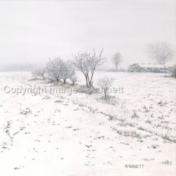 Snow in Molena by Margena Burnett