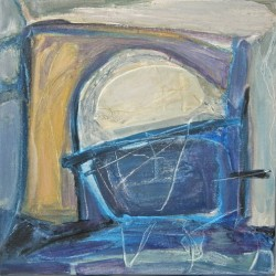 Framed and Lifted By Blues by Maggie Neale