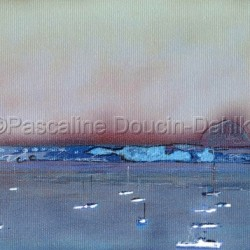 Morro Bay Grey Sky by Pascaline Doucin-dahlke
