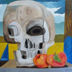 Skull and Peaches by Joseph Ray York
