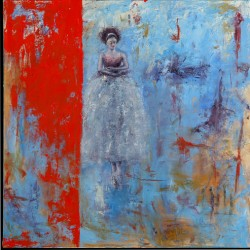 Behind the Red Curtain by Shanna Bruschi Paintings