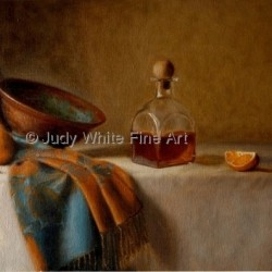 Brandy and Oranges by Judy White Fine Art