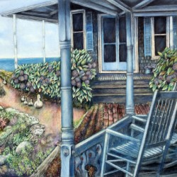 View from the Porch by Harry Seymour, A Martha's Vineyard Artist