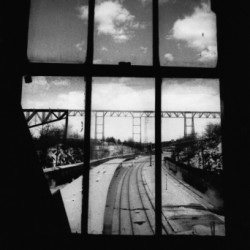 Poughkeepsie Train Station Window,  Poughkeepsie NY by Albert Neal