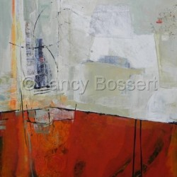 Change Our Minds, Abstract, oil, painting by Nancy Bossert