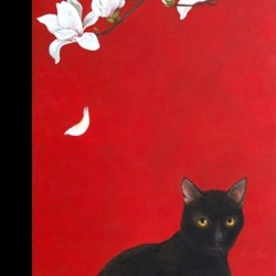 Black Cat and Magnolia by Minako Ota