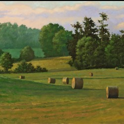 Fields of August by Raymond Burns