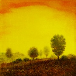 Yellow sky by David Austin Clar