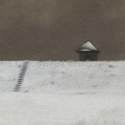 Reservoir in Snow, Pumphouse by Tim Daly