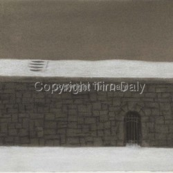 Reservoir in Snow, Gate by Tim Daly