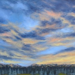 Mountain Sunset, 2010. Oil on canvas by Jillian Mayles