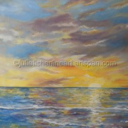 Last Sun of Vacation by Julie Fisher's Fine Art
