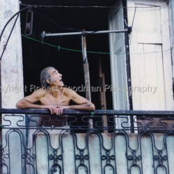 Havana Man in Window by Robert Goodman Photography