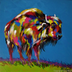 Yellowstone Bison by Tracy Miller