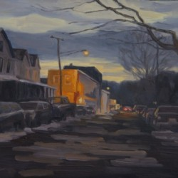Lambertville Evening by Bryan Oliver