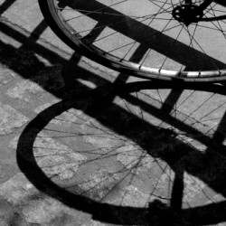 Spokes Shadow by Karen Callan