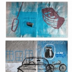 VEHICLE - collage of 1989 sketchbook pages (2012) by Pat Pendleton Studio