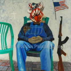 American Taliban by Nicholas Wolfson Paintings And Drawings