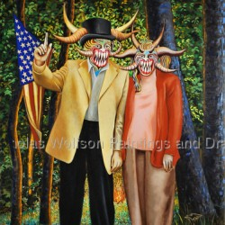 Tom Delay and The Missus; The Wilderness Years by Nicholas Wolfson Paintings And Drawings