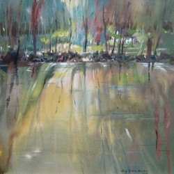 Early Morning Canal Reflections by Lucy Graves-mcvicker