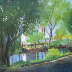 Lewis Island - Lambertville by Lucy Graves-mcvicker