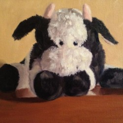 One Tired Cow by Randy Carden Fine Art