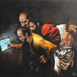 Distracted (painting) by Alexander Lee Artist